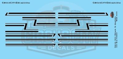 Black Semi Stripe Graphic 1:64 Scale
