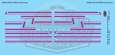 Purple Semi Stripe Graphic 1:64 Scale