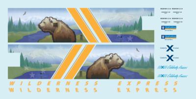 Alaska Railroad ARR Wilderness Express Dome HO Decals Royal Caribbean Mckinley