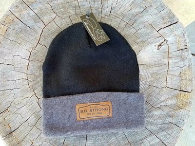Leather Patch SD Strong Knit Cap