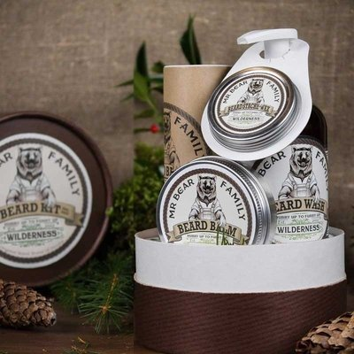 Mr Bear Family - Confezione regalo gusto Woodland (foresta di Pini) per Barba e Baffi
