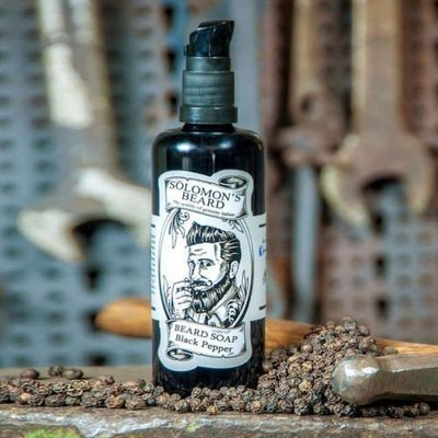 Solomon's Beard - Shampoo per barba Black Pepper 100ml.