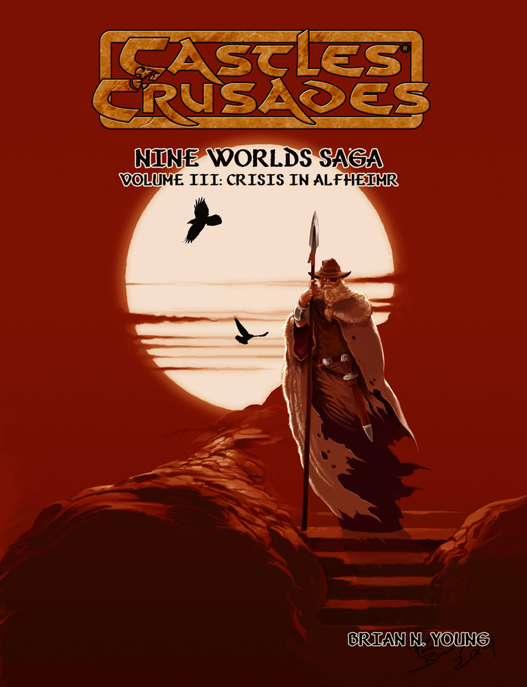 Nine Worlds Saga III Crises in Alfheim: Castles and Crusades -  Troll Lord games
