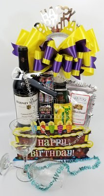 Birthday Wine Snack Box