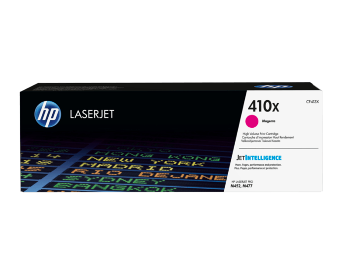 HP 410X 高打印量洋紅色原廠 LaserJet 碳粉 CF413X