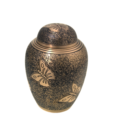 Golden Butterfly Urn