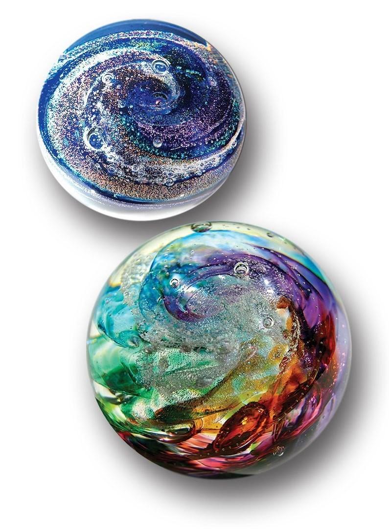 Sphere Hand Blown Crystal Memorials