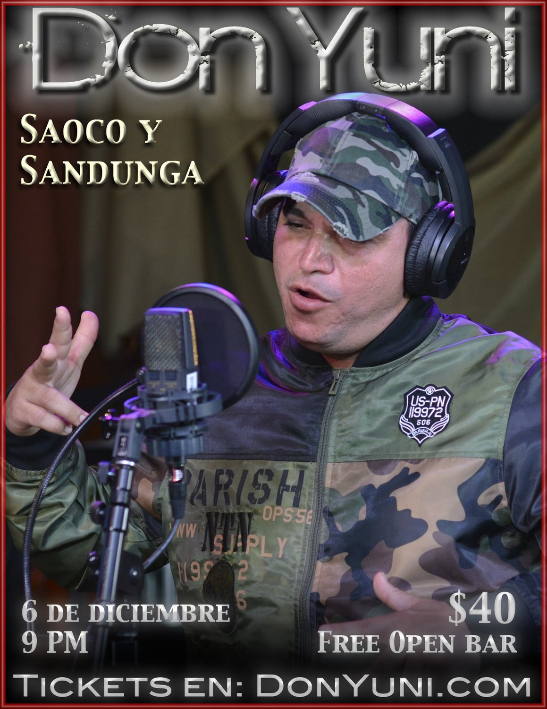 "Don Yuni ""Saoco y Sandunga"" - Jueves, 6 de diciembre - 9:00 PM"