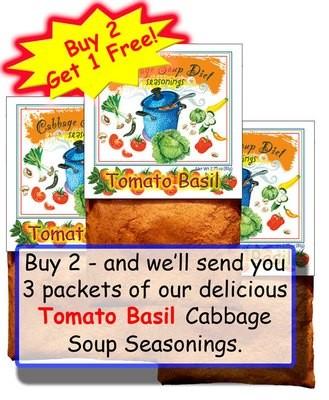 BUY TWO – GET ONE FREE!  Tomato Basil Seasonings
