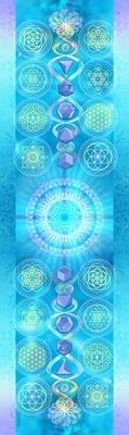 100% Silk Sacred Geometry Scarf  (20