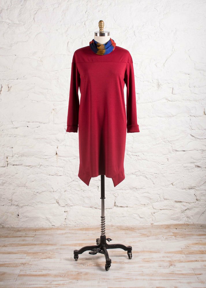 Red Ponte Knit Dress
