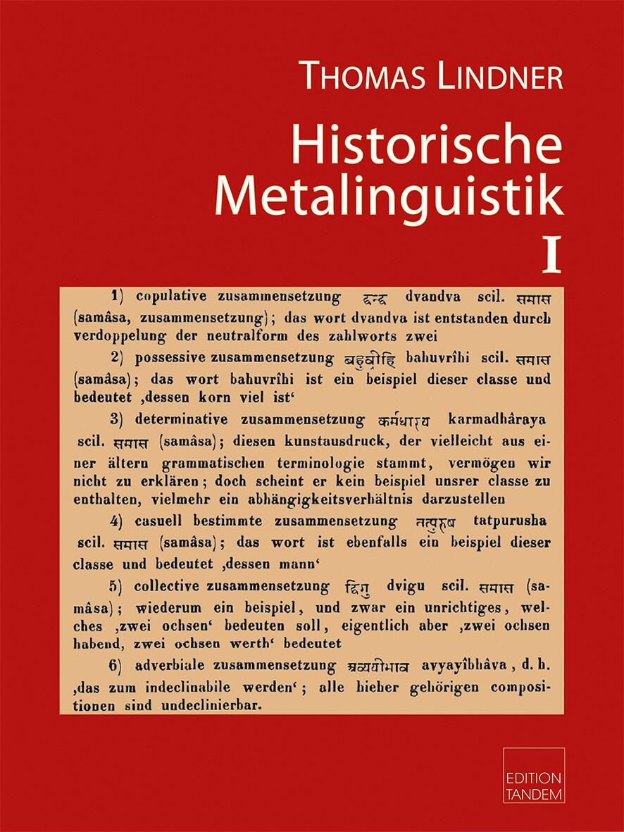 Historische Metalinguistik I