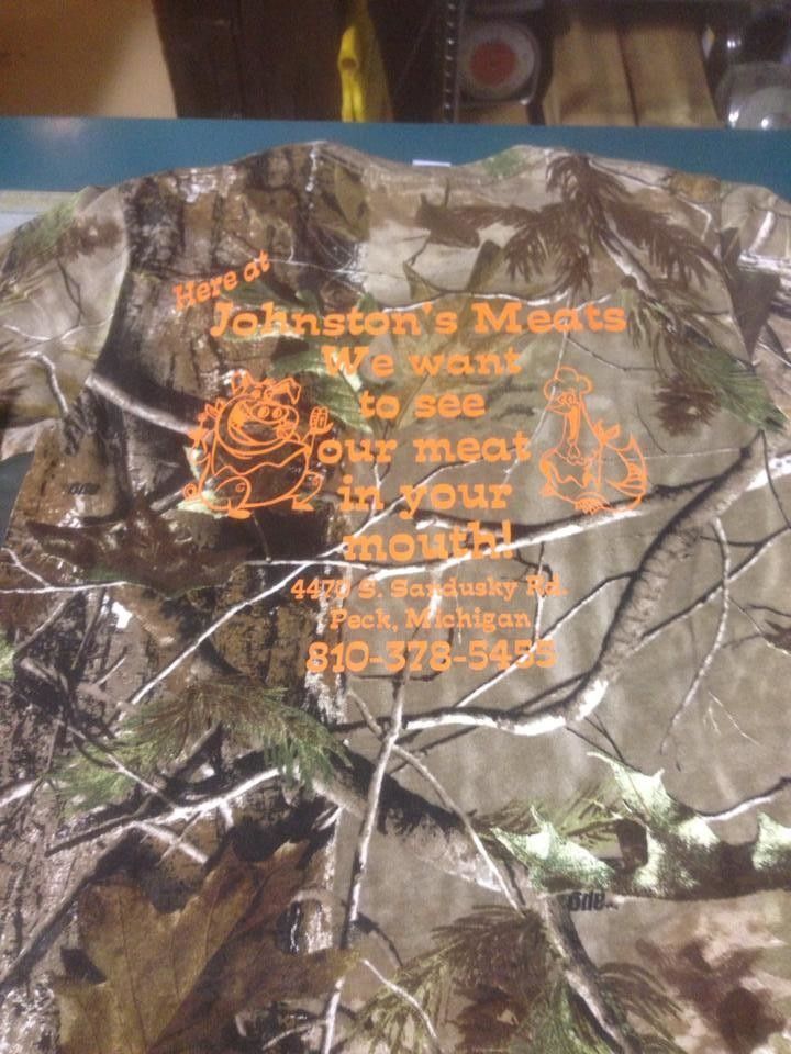 Camo w/ Orange Long Sleeve Shirt