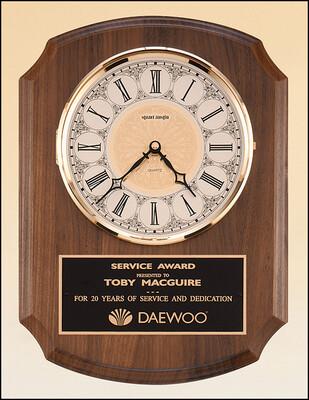 American Walnut Vertical Wall Clock