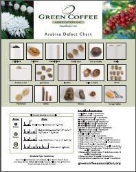 """Non-Member - 11"""" x 14"""" and Poster - Arabica Defect Charts"""