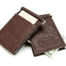 Leather Money Clip Card Holder