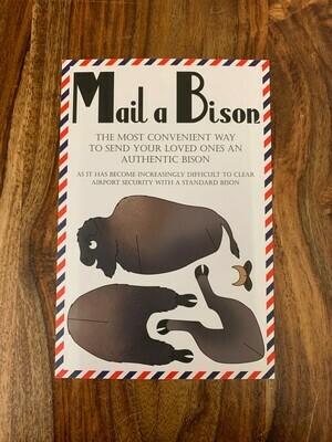 Mail-a-Bison Postcard