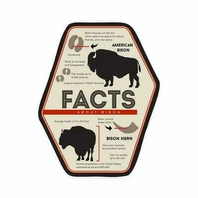 Facts About Bison Sticker