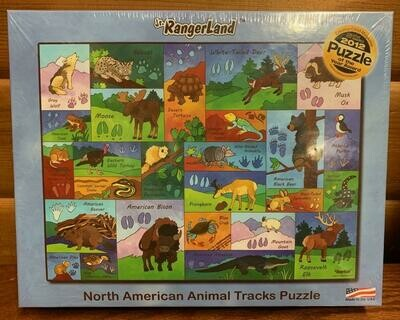 North American Animal Tracks Puzzle