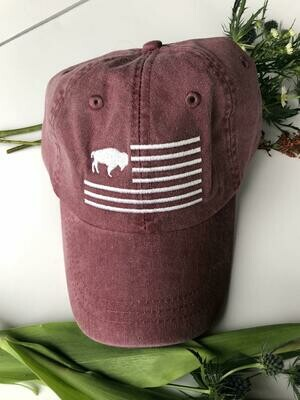 Buffalo Flag Hat (Maroon)