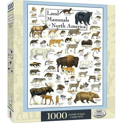 Land Mammals of North America Puzzle