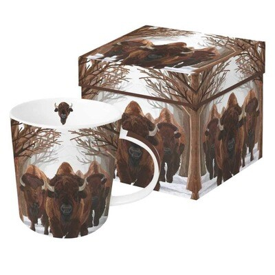 Buffalo Passage Gift Boxed Mug, 13.5 oz