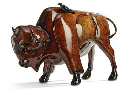 Simpaticos-Bison Sculpture by Stephen Herrero