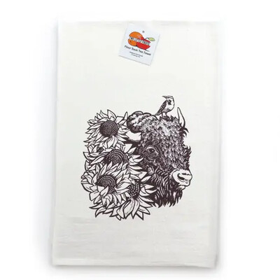Buffalo Sunflower Tea Towel