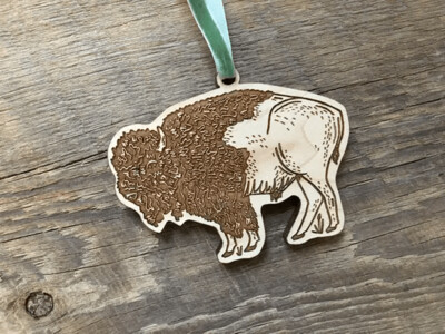 Wood Bison Ornament