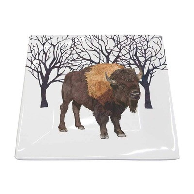 Winter Buffalo Small Square Platter