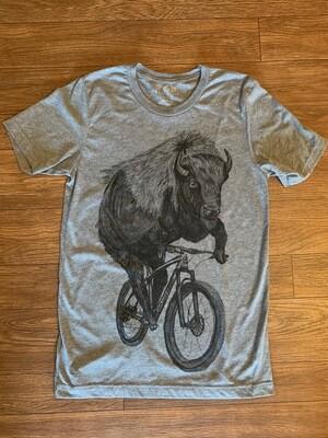 Dark Cycle Buffalo Tri-Grey T-Shirt