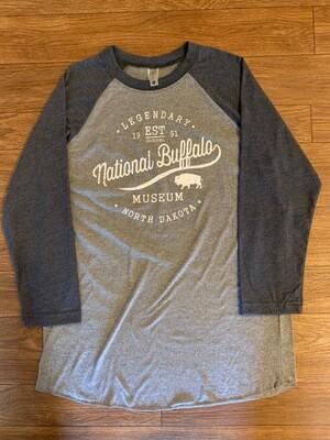 Navy Raglan Tri-Blend National Buffalo Museum T-Shirt