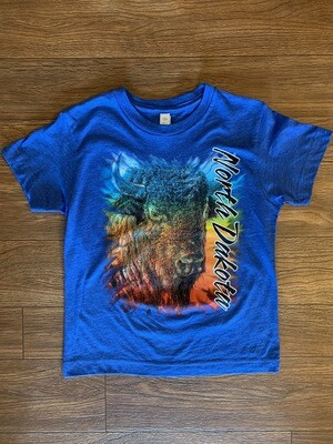 Youth Buffalo Head North Dakota T-Shirt