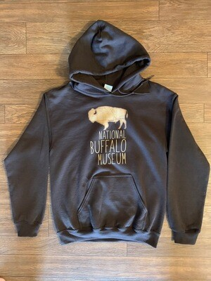 Chocolate Brown Buffalo Map Hooded Sweatshirt