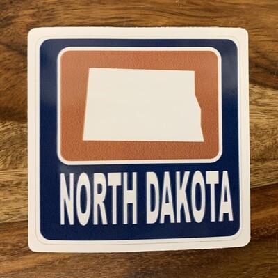 North Dakota State Sticker