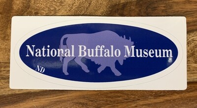 National Buffalo Museum Oval Sticker