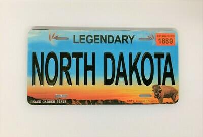 North Dakota License Plate Magnet
