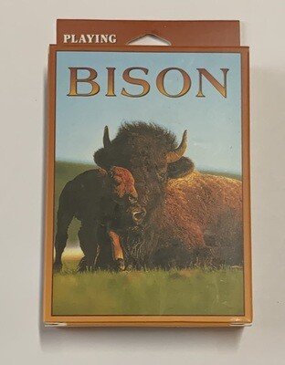Bison Playing Cards