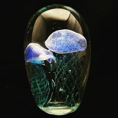 Blue Twin Jellyfish * Glow in the Dark