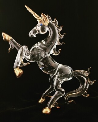Rearing Extra Large Unicorn* -24crt Gold Trim-