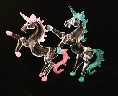 Rearing Unicorn -Glitter Pink/Blue- *