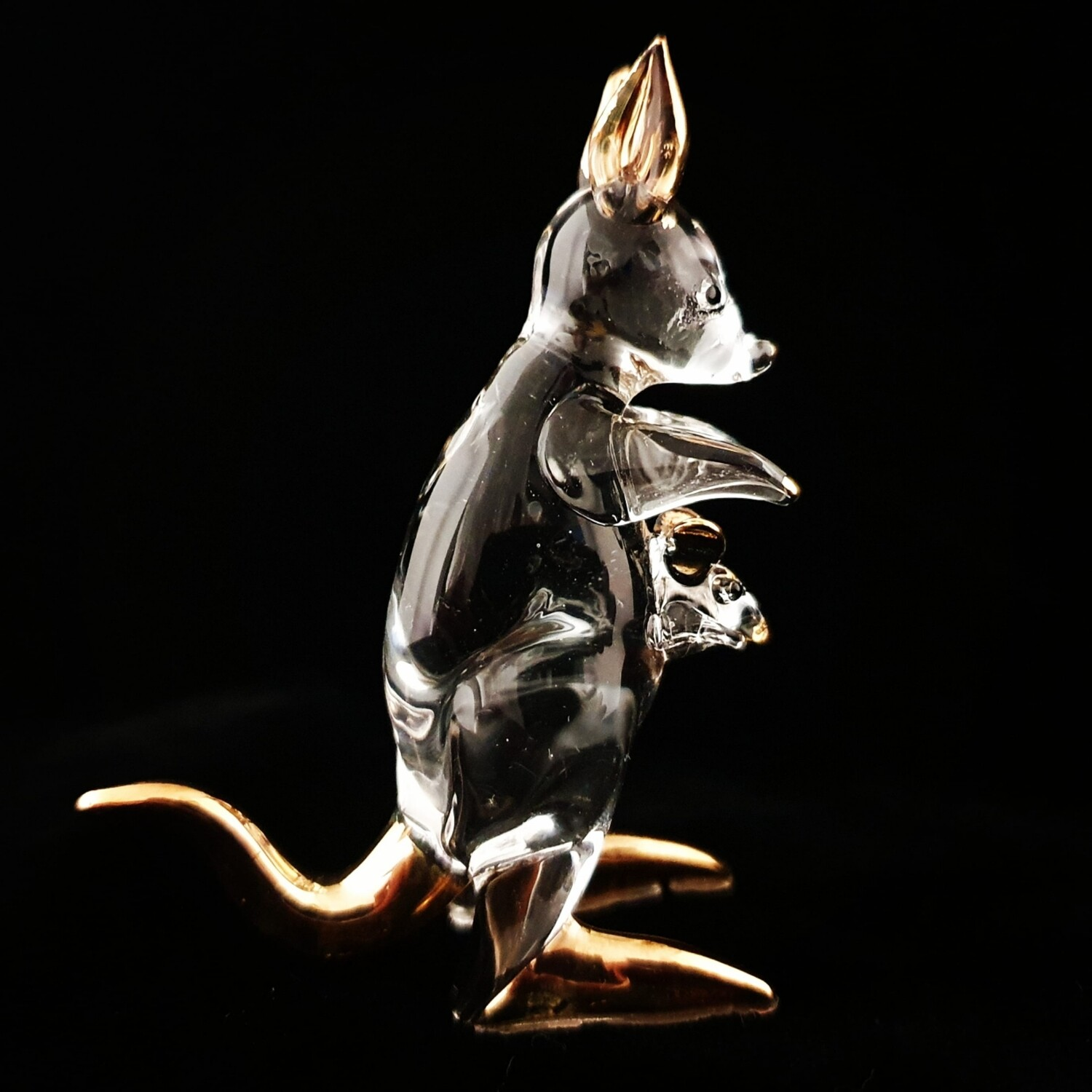 Small Kangaroo* 24crt Gold Highlights -SALE-