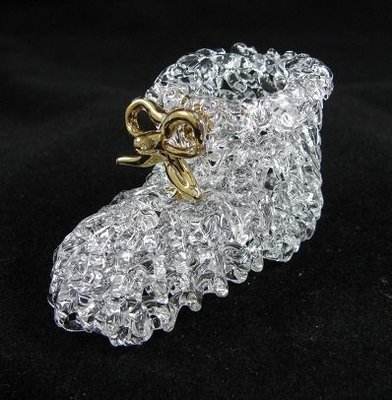 Baby Bootie with 24crt Gold Higlights