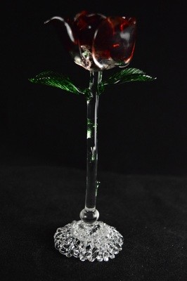 Standing Rose on a Lace Base