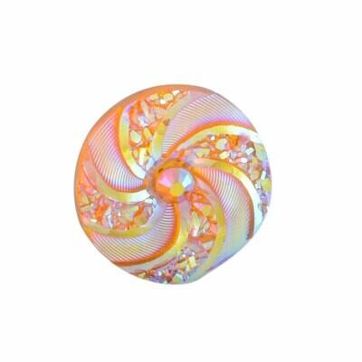 Swirl Resin Cabochon Orange 16x3mm