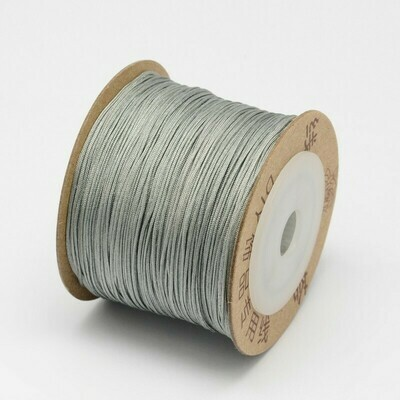 .8mm Chinese Knotting Cord Grey Silver x100m