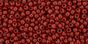 11/0 Round Toho Opaque Red 45