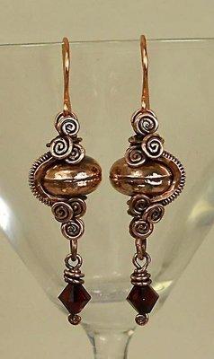Copper Coil Earrings