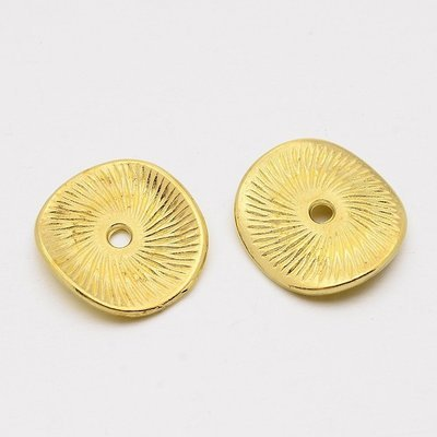 Wavy Spacer Bead  Antique Gold 15mm