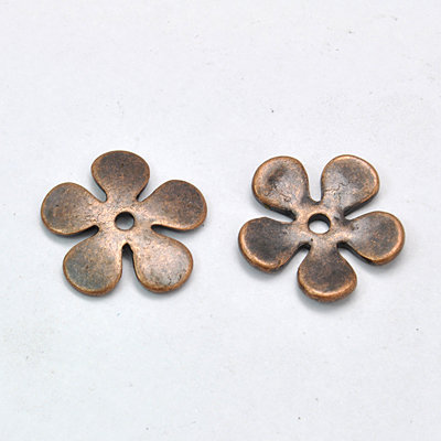Flower Spacer Bead Antique Copper1  21mm